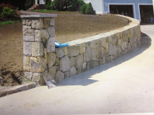 retaining wall installation in new bedford ma