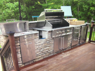 outdoor kitchen in new bedford, ma